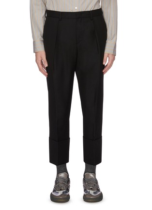 Main View - Click To Enlarge - WOOYOUNGMI - Turn up hem wool pants