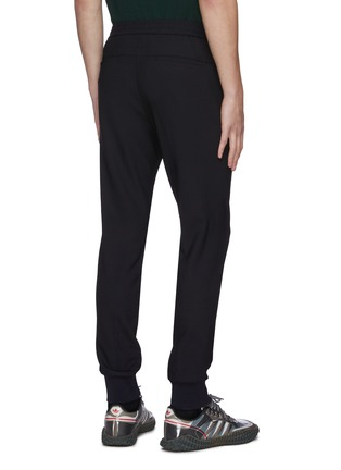 Back View - Click To Enlarge - WOOYOUNGMI - Elastic drawstring waist tapered wool blend jogging pants