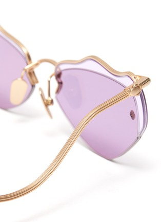 Detail View - Click To Enlarge - MØY ATELIER - Forget Me Not' metal rim wire frame cateye sunglasses