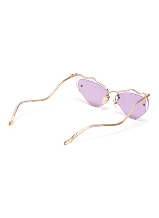 Figure View - Click To Enlarge - MØY ATELIER - Forget Me Not' metal rim wire frame cateye sunglasses