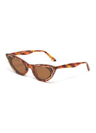 Main View - Click To Enlarge - MØY ATELIER - Come Fly With Me' cat eye gold thread accent sunglasses