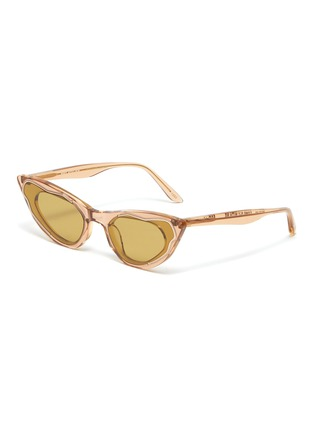 Main View - Click To Enlarge - MØY ATELIER - Come Fly With Me' gold thread accent cateye sunglasses