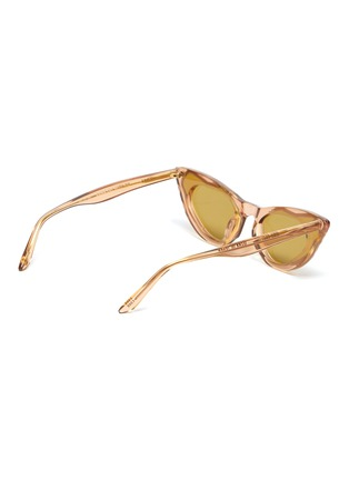 Figure View - Click To Enlarge - MØY ATELIER - Come Fly With Me' gold thread accent cateye sunglasses