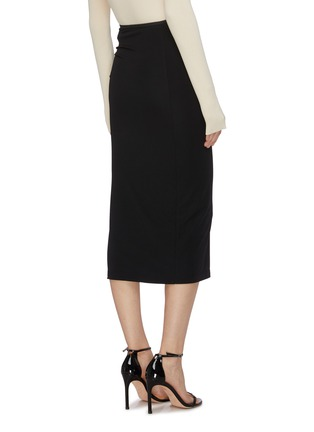 Back View - Click To Enlarge - HELMUT LANG - Twist detail snap button midi skirt