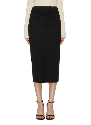 Main View - Click To Enlarge - HELMUT LANG - Twist detail snap button midi skirt