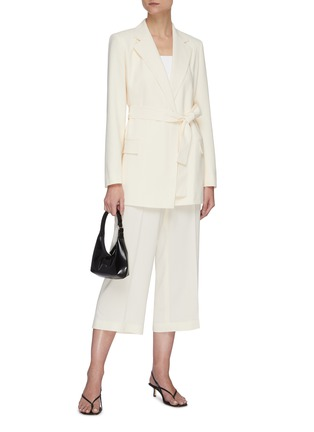 Figure View - Click To Enlarge - THEORY - Crop wide suiting pants