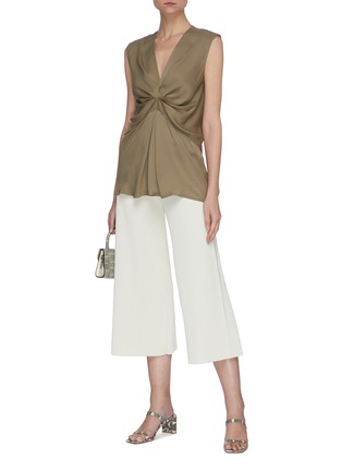 Figure View - Click To Enlarge - THEORY - 'Henriet O' ribbed knit flared pants