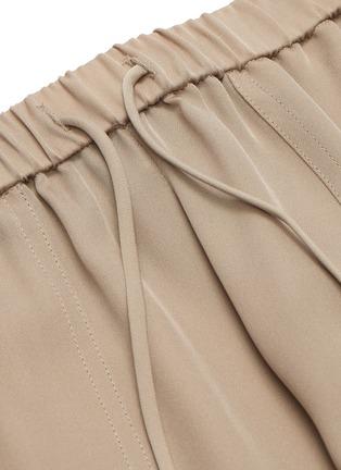 - THEORY - Drawstring waist ribbed cuff silk pants