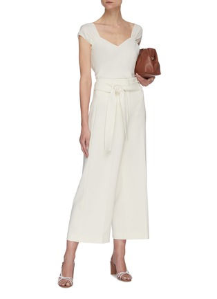 Figure View - Click To Enlarge - THEORY - Belted crop suiting pants