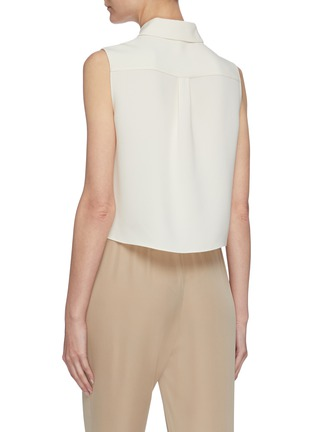Back View - Click To Enlarge - THEORY - Classic tailored sleeveless shrunken shirt