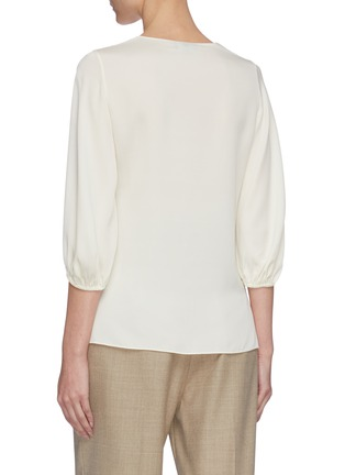 Back View - Click To Enlarge - THEORY - Puff sleeve silk blend top
