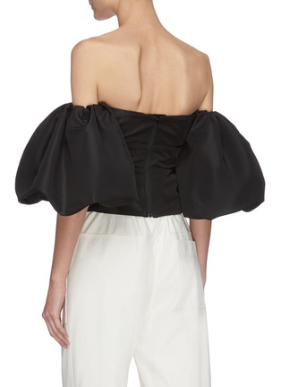 Back View - Click To Enlarge - SELF-PORTRAIT - Balloon sleeve taffeta top