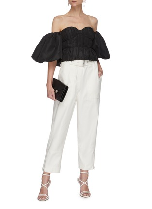 Figure View - Click To Enlarge - SELF-PORTRAIT - Balloon sleeve taffeta top