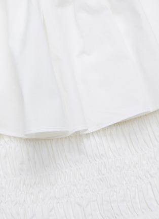 - SELF-PORTRAIT - Off shoulder ruffle cotton poplin top