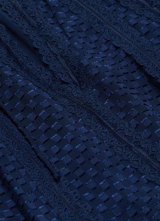 - ALICE + OLIVIA - Joanne blouson sleeve tie neck handkerchief mini dress