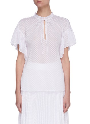 Main View - Click To Enlarge - ALICE + OLIVIA - Julius' short ruffle sleeve tunic top