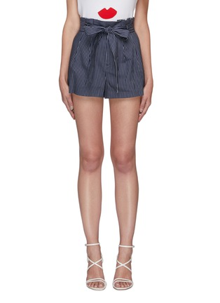 Main View - Click To Enlarge - ALICE + OLIVIA - Laurine belted paperbag waist shorts