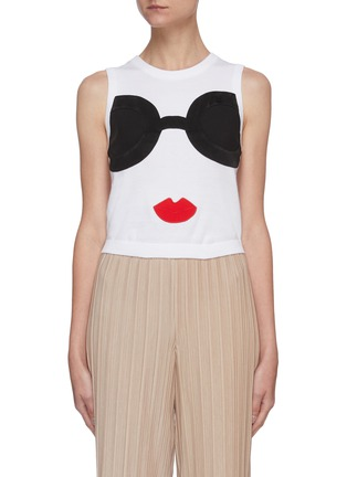 Main View - Click To Enlarge - ALICE + OLIVIA - Rosalina stace face knit tank top