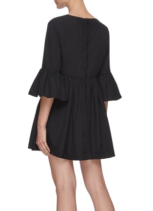 Back View - Click To Enlarge - ALICE + OLIVIA - Augusta ruffle sleeve dress