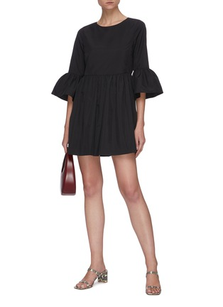 Figure View - Click To Enlarge - ALICE + OLIVIA - Augusta ruffle sleeve dress