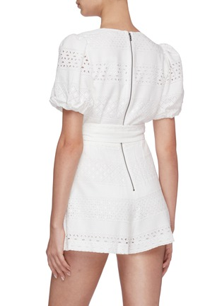 Back View - Click To Enlarge - ALICE + OLIVIA - Paulina puff sleeve romper