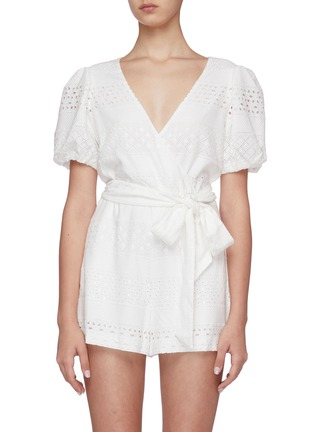 Main View - Click To Enlarge - ALICE + OLIVIA - Paulina puff sleeve romper