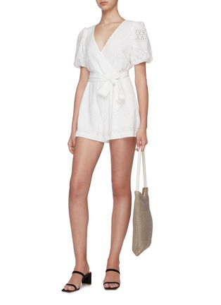 Figure View - Click To Enlarge - ALICE + OLIVIA - Paulina puff sleeve romper