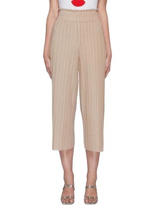 Main View - Click To Enlarge - ALICE + OLIVIA - Elba thick waistband plissé pants