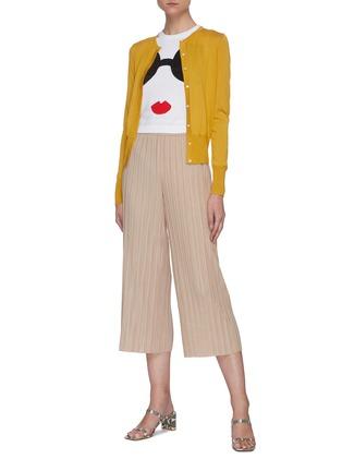 Figure View - Click To Enlarge - ALICE + OLIVIA - Elba thick waistband plissé pants