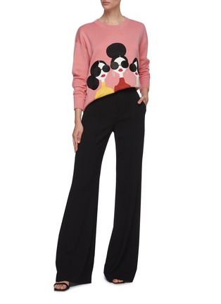Figure View - Click To Enlarge - ALICE + OLIVIA - 'Dylan' high waist wide leg pants
