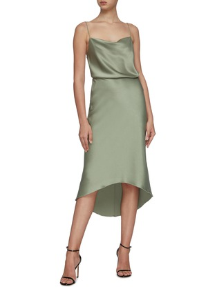 Figure View - Click To Enlarge - ALICE + OLIVIA - 'Maeve' midi slip skirt