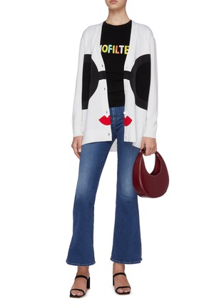 Figure View - Click To Enlarge - ALICE + OLIVIA - Bradford graphic knit cardigan
