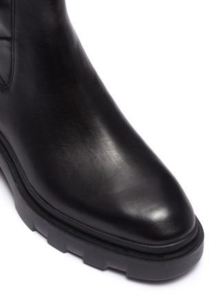 Detail View - Click To Enlarge - ASH - Magma chunky sole leather Chelsea boots