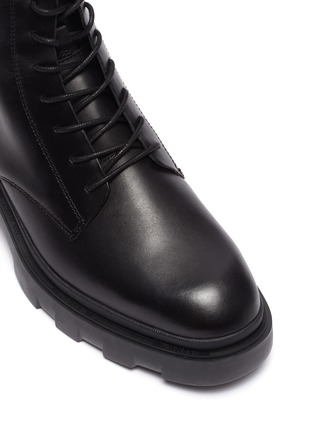 Detail View - Click To Enlarge - ASH - Moody chunky sole lace up leather ankle boots