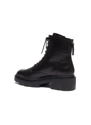 - ASH - Moody chunky sole lace up leather ankle boots
