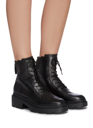 Figure View - Click To Enlarge - ASH - Moody chunky sole lace up leather ankle boots