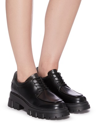 Figure View - Click To Enlarge - ASH - Lab chunky sole lace up leather loafers
