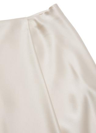 - ALICE + OLIVIA - Jayla asymmetric draped slit midi skirt