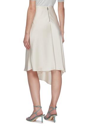 Back View - Click To Enlarge - ALICE + OLIVIA - Jayla asymmetric draped slit midi skirt