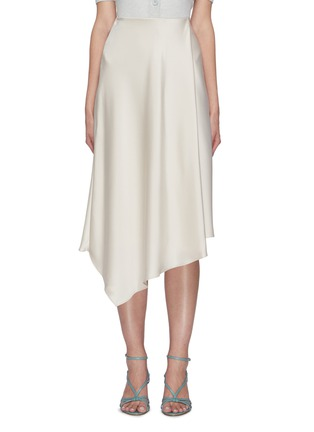 Main View - Click To Enlarge - ALICE + OLIVIA - Jayla asymmetric draped slit midi skirt