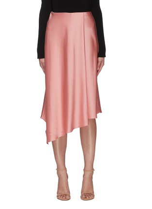 Main View - Click To Enlarge - ALICE + OLIVIA - 'Classic Jayla' asymmetric drape slit midi skirt