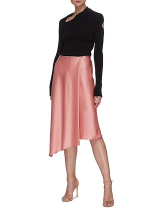 Figure View - Click To Enlarge - ALICE + OLIVIA - 'Classic Jayla' asymmetric drape slit midi skirt