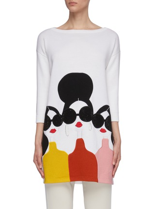 Main View - Click To Enlarge - ALICE + OLIVIA - 'Stace Face' tunic sweater