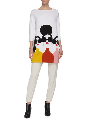 Figure View - Click To Enlarge - ALICE + OLIVIA - 'Stace Face' tunic sweater