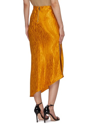 Back View - Click To Enlarge - ALICE + OLIVIA - 'Maeve' tiger print asymmetric slip skirt