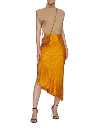 Figure View - Click To Enlarge - ALICE + OLIVIA - 'Maeve' tiger print asymmetric slip skirt