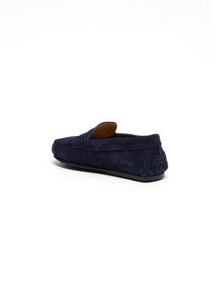 Detail View - Click To Enlarge - TOD'S - Mocassino Nuovo City' suede toddler loafers