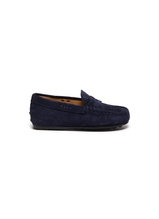 Main View - Click To Enlarge - TOD'S - Mocassino Nuovo City' suede toddler loafers