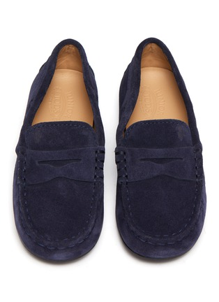 Figure View - Click To Enlarge - TOD'S - Mocassino Nuovo City' suede toddler loafers