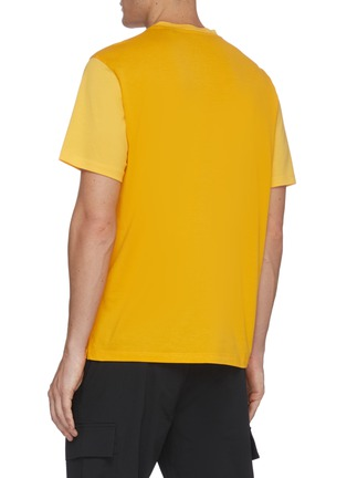 Back View - Click To Enlarge - THEORY - Patch pocket piqué cotton T-shirt